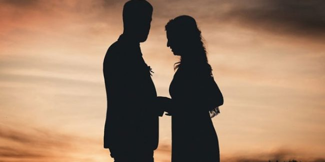 Huwelijksfoto avond